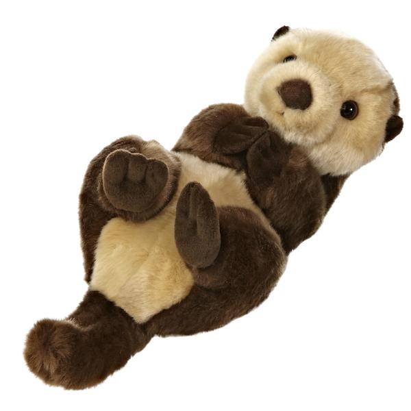 Realistic Stuffed Sea Otter 10 Inch Aurora Stuffed