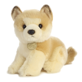 Realistic Stuffed Akita Puppy 9 Inch Plush Dog by Aurora