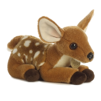 Realistic Stuffed Baby Deer 8 Inch Plush Animal by Aurora