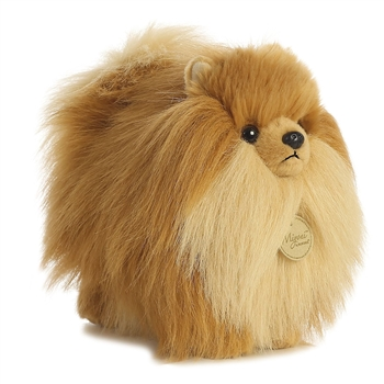 Realistic Stuffed Pomeranian 9 Inch Plush Dog by Aurora