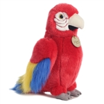Realistic Stuffed Scarlet Macaw 11 Inch Plush Animal by Aurora