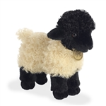 Realistic Stuffed Suffolk Lamb 8 Inch Miyoni Plush by Aurora