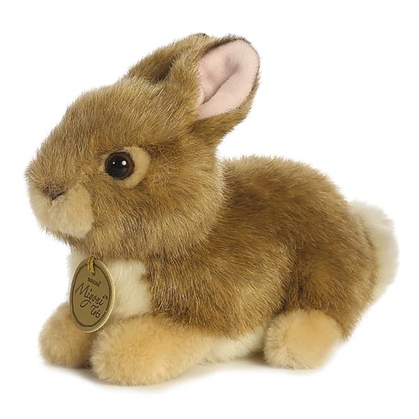 Realistic Stuffed Tan Baby Bunny 7 Miyoni Plush By Aurora
