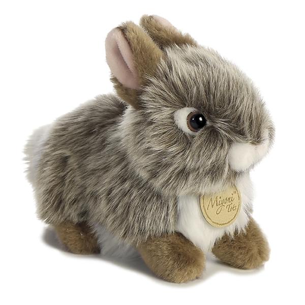 Realistic Stuffed Gray Baby Bunny 7 Miyoni Plush By Aurora