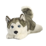 Realistic Stuffed Husky Lying Miyoni Plush by Aurora
