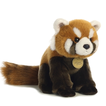 Realistic Stuffed Red Panda 9 Inch Miyoni Plush by Aurora