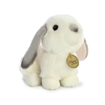 Realistic Stuffed Gray Eared Lop Rabbit 6 Inch Miyoni Plush by Aurora