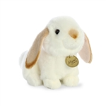 Realistic Stuffed Tan Eared Lop Rabbit 6 Inch Miyoni Plush by Aurora