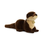 Realistic Stuffed River Otter 9 Inch Miyoni Plush by Aurora