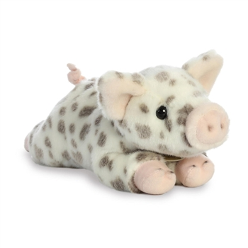 Realistic Stuffed White Spotted Piglet 9 Inch Miyoni Plush by Aurora