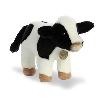 Realistic Stuffed Holstein Calf 10 Inch Miyoni Plush by Aurora