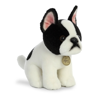 Realistic Stuffed Boston Terrier Puppy 9 Inch Miyoni Plush by Aurora
