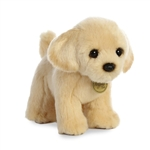 Realistic Stuffed Yellow Lab Puppy 9 Inch Miyoni Plush by Aurora