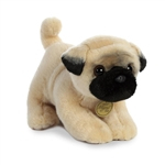 Realistic Stuffed Pug Puppy 9 Inch Miyoni Plush by Aurora