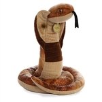 Realistic Stuffed Cobra 13 Inch Miyoni Plush by Aurora