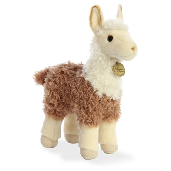 Realistic Stuffed Brown Llama 10 Inch Miyoni Plush by Aurora