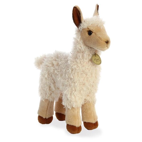 Realistic Stuffed Baby Llama 10 Inch Miyoni Plush Aurora Stuffed