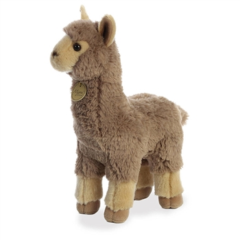 Realistic Stuffed Tan Alpaca 10 Inch Miyoni Plush by Aurora