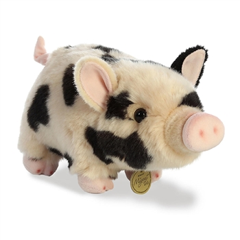 Realistic Stuffed Spotted Potbellied Pig 10 In. Miyoni Plush by Aurora