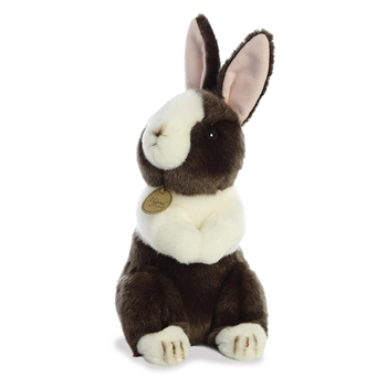 Realistic Stuffed Black Dutch Rabbit 9 Inch Miyoni Plush by Aurora