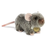 Realistic Stuffed Gray Mouse 6 Inch Miyoni Plush by Aurora