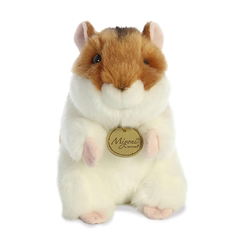 Realistic Stuffed Brown Hamster 6 Inch Miyoni Plush by Aurora