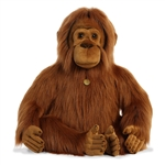 Ozlo the Realistic Jumbo Stuffed Orangutan Miyoni Plush by Aurora