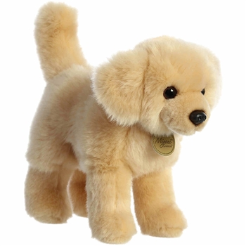 Realistic Stuffed Golden Retriever 10 Inch Miyoni Plush by Aurora