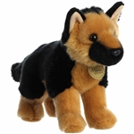 Realistic Stuffed German Shepherd 10 Inch Miyoni Plush by Aurora