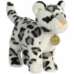 Realistic Stuffed Standing Snow Leopard Miyoni Wild Cat Plush by Aurora