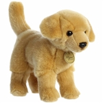 Realistic Stuffed Yellow Lab 10 Inch Miyoni Plush by Aurora