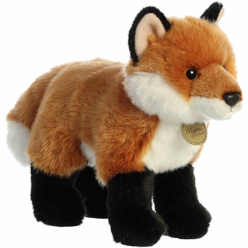 Realistic Standing Stuffed Fox Miyoni Plush by Aurora