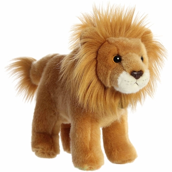 Realistic Stuffed Standing Lion Miyoni Wild Cat Plush by Aurora