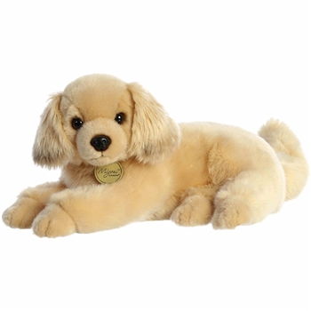 Realistic Stuffed Golden Retriever 14 Inch Plush Dog by Aurora