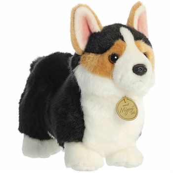 Realistic Stuffed Cardigan Welsh Corgi Puppy 9 Inch Miyoni Plush by Aurora