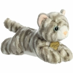 Realistic Stuffed Gray Tabby Cat 8 Inch Plush by Aurora