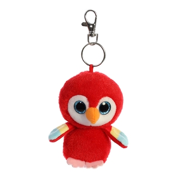 Lora the YooHoo & Friends Plush Scarlet Macaw Clip-On by Aurora