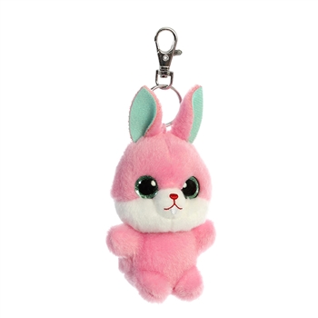 Betty the YooHoo & Friends Plush Pink Bunny Clip-On by Aurora