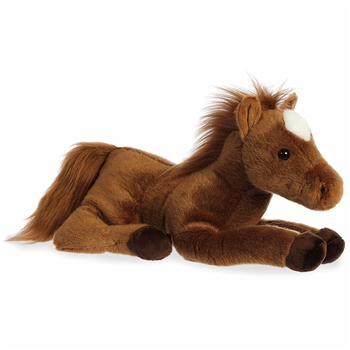 Dallas the Stuffed Brown Horse Flopsie by Aurora