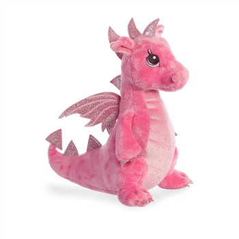 Dahlia the Pink Stuffed Dragon Sparkle Tales Plush by Aurora