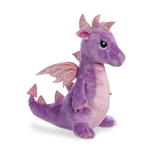 Larkspur the Purple Stuffed Dragon Sparkle Tales Plush by Aurora