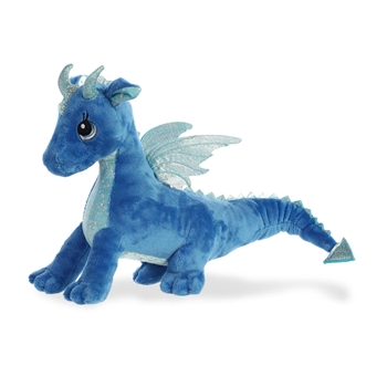 Indigo the Blue Stuffed Dragon Sparkle Tales Plush by Aurora
