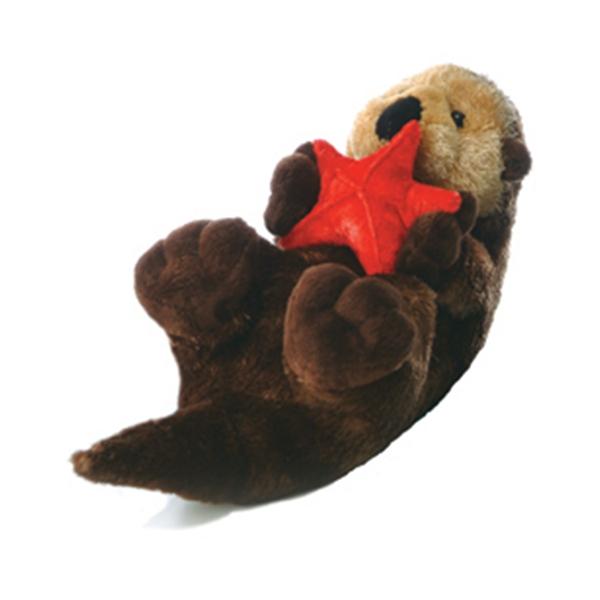Stuffed Otter Cali The Plush California Sea Otter By Aurora From