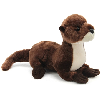 Plush Sliddy the Stuffed River Otter Mini Flopsie by Aurora