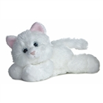 Sugar Too the Stuffed White Cat by Aurora