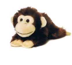 Plush Cheki Chimp Mini Flopsie by Aurora