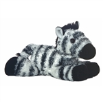 Zany The Stuffed Zebra Plush Animal Mini Flopsie By Aurora