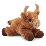 Little Toro the Stuffed Bull Mini Flopsie by Aurora