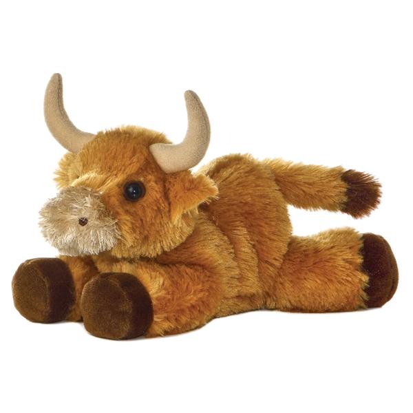Little Stuffed Bull Mini Flopsie Aurora Stuffed Safari