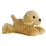 Golden the Stuffed Golden Retriever Plush Mini Flopsie Dog By Aurora